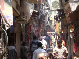 Chandni Chowk - this street sells fabric, sequence and all kinds of sparkly things for clothes - lots of colors! , Balti-most - May 2011