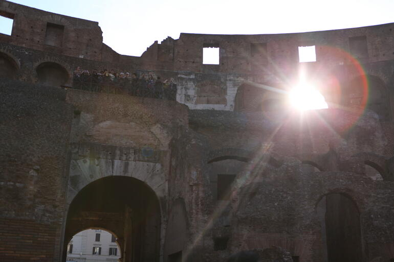 Early morning on the Colosseum Arena - Rome