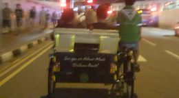 My daughters in a T rickshaw in front of me were enjoying the sights and sounds of music , Carol Anne W - August 2016