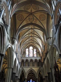 Look up--always in a cathedral , Barbara W - October 2013