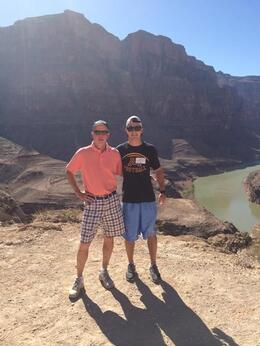 Tyler and Dad on a road trip from San Francisco to Chicago via the Grand Canyon. , Larry B - July 2014