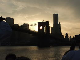 Brooklyn bridge at dusk , Karen D - June 2011