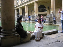 figures at Roman bath , diane s - June 2014