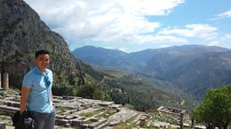 With the fantastic mountainside view! , Yang V - May 2015