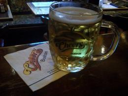 Enjoying a beer - September 2014