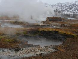 Geysir and Strokkur hot springs , Illya V - January 2012