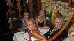 Colonial Tramcar Restaurant - Girls night out: Denise, Julie, Karen, Roslyn, Julie P - December 2009