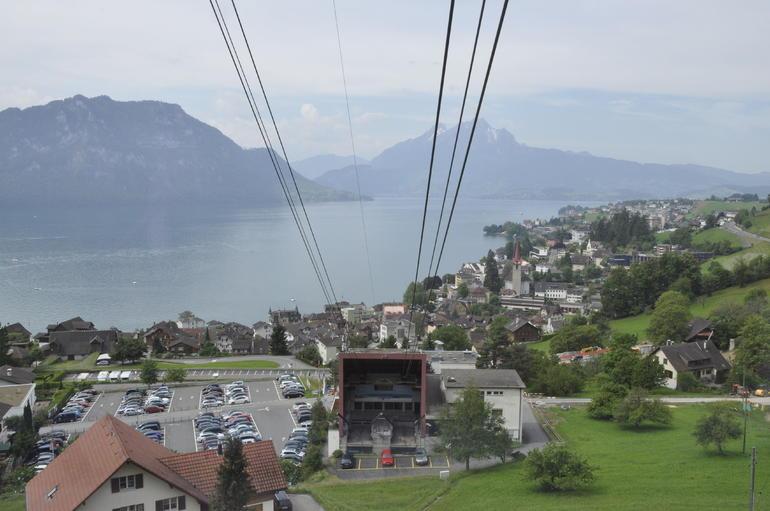 Going up to Rigi on the Tram - Zurich