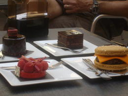 This is not a cheeseburger! It is a macaroon - great deserts! , Maxine K - September 2013