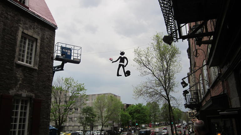 hanging artwork - Montreal