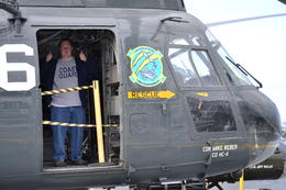 In one of the helicopters , Cathy T - April 2013