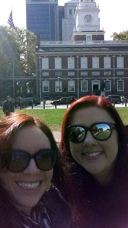 Selfie in front of Independence Hall - December 2014