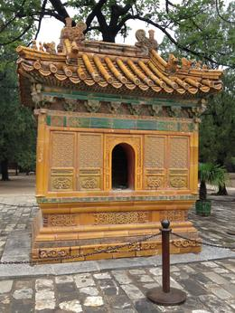 Huge outdoor incense burner at Ming Tombs, Cat - July 2012