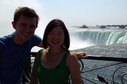 In front of the Falls, Jules & Brock - September 2012