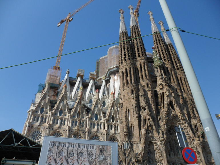 Out side the Sagrada Familia - Barcelona