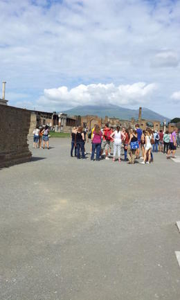 Pompeii with Mount Vesuvius in the background , Mhairi B - October 2012
