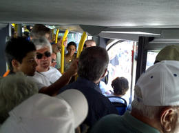 Dangerously crowded bus in Stockholm on June 29, 2011. , Jeffrey T - July 2011