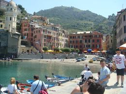 On our way to lunch, getting off the boat and entering Vernazza. - May 2010