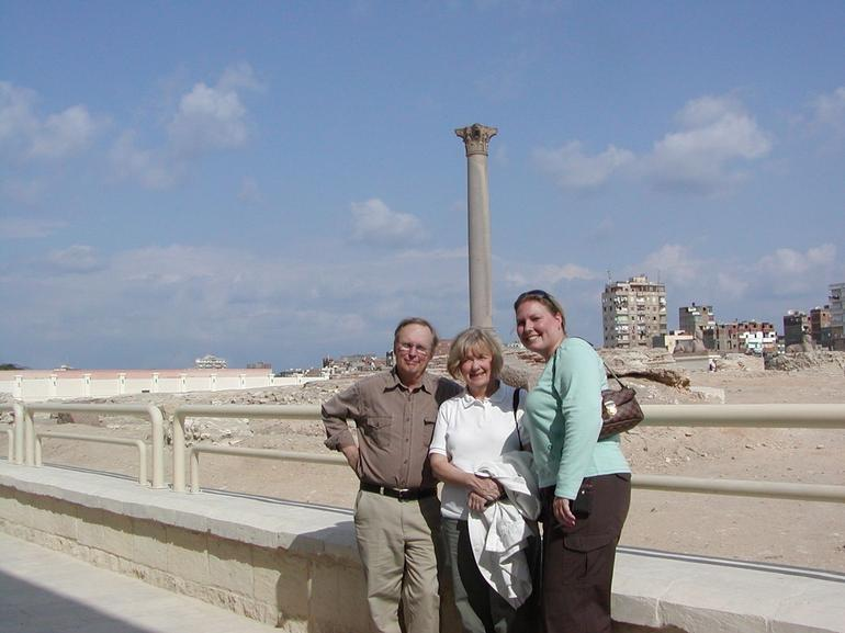 Visiting Pompey's Pillar in Alexandria - Cairo