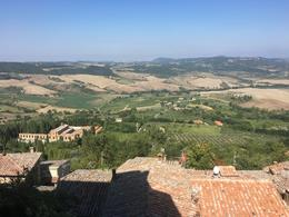view of Val D'Orcia from atop Montepulciano , Sylvie L - November 2016