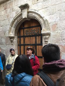 Our guide Yariv discussing the Dolorosa Path. , Lori M - January 2017
