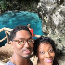 Keith and Shaterrica exploring the Blue Hole. , kw1981mekeith - November 2015