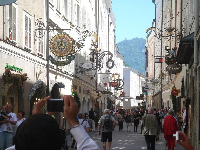 A famous shopping area in Salzburg - Vienna