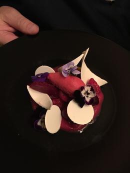 Berry sorbet and white chocolate. Yumm.... , sbmeacham - January 2015