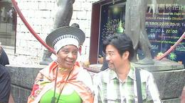 A chat wit one of the Malaysian guy travelling in the same organised tour to Macau.He liked my traditional atire and asked to take a pic of both., Nikiwe M - November 2010
