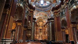 The impressive Baroque Church of the Abbey , C S - October 2013