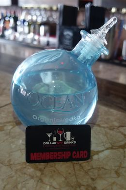 I was able to try this brand new vodka at Exile Restaurant & Lounge using my Dollar Off Drinks Card, Buttercup - October 2015
