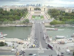 View from our table in the Eiffel Tower, Summer G - September 2010