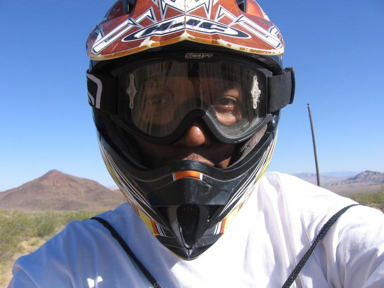 Face of a Highly Skilled ATV Rider! - Las Vegas