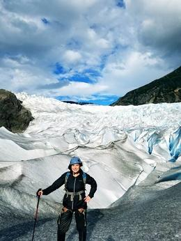 Trekking around the glacier , Jennifer M E - September 2016