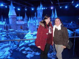 Hog warts in the back ground with my daughter and wife at The Making of Harry Potter. , Raul V - December 2013