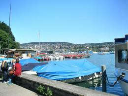 The local people come down to Lake Zurich in droves to sunbathe on a warm, sunny day., Victoria R - August 2008