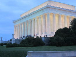 A shot of the Lincoln Memorial from the Viator Trolley , Patty - May 2012