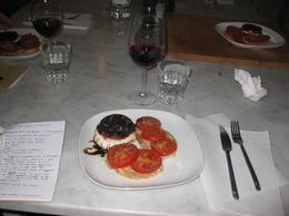 Bruschetta and Eggplant Sandwich , Julie S - March 2011