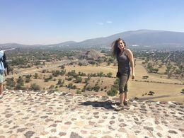Standing on the top of the Sun temple , Peggy P - May 2016