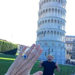 Found our wedding venue at the Vineyard in SanGi...the decided to make it real in Pisa...! , Ayden M - October 2016