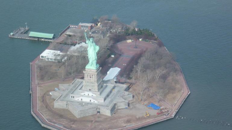 Statue de la Libert� le 2 mars 2013 - New York City