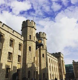 A side and clock of the tower of London , Tania - October 2015