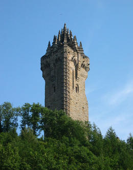 A monument near Stirling honoring William Wallace, the main character in the movie Braveheart. , Bruce - May 2011