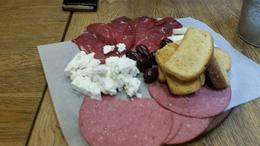 Meat, cheese, olives and bread. Mezze like a Spanish Tapa. , Jan - November 2016