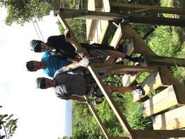 Stephen, Conrad and Brian, having fun zip lining, Roatan, Honduras , Stephen R - July 2017