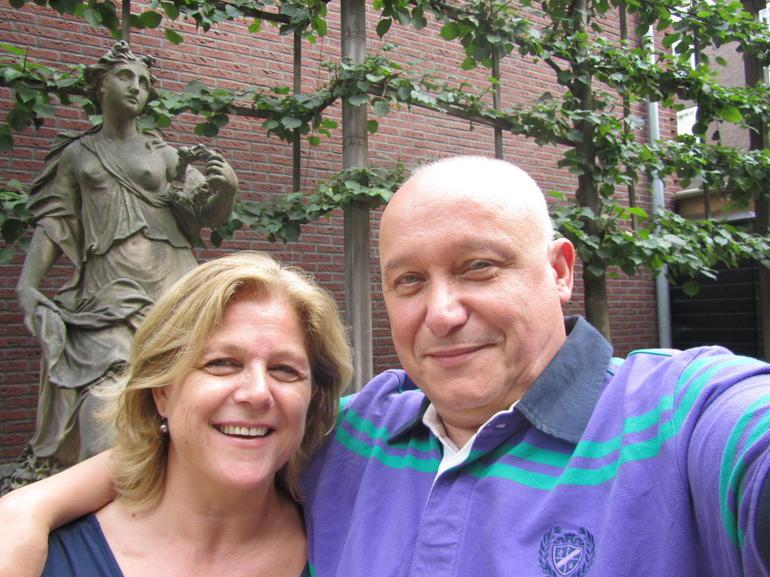 Ann en Richard, tuin museum Willet-Holthuysen - Amsterdam