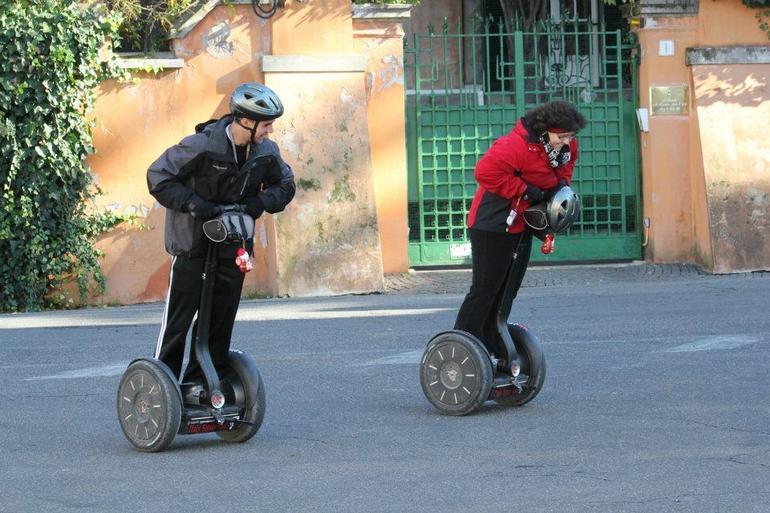 Drag racing segway style - Rome