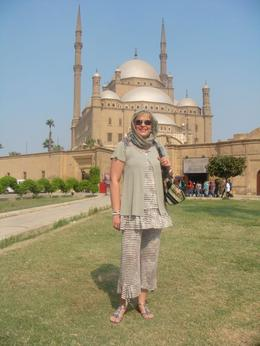 Me in front of the Alabaster Mosque , Liezel E - October 2011