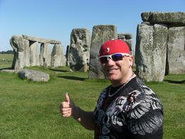 I (James) giving a thumbs up to one of the coolest places on the planet! STONE HENGE , James R - June 2013