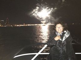 On deck to watch the fireworks show. , Emily R - July 2015